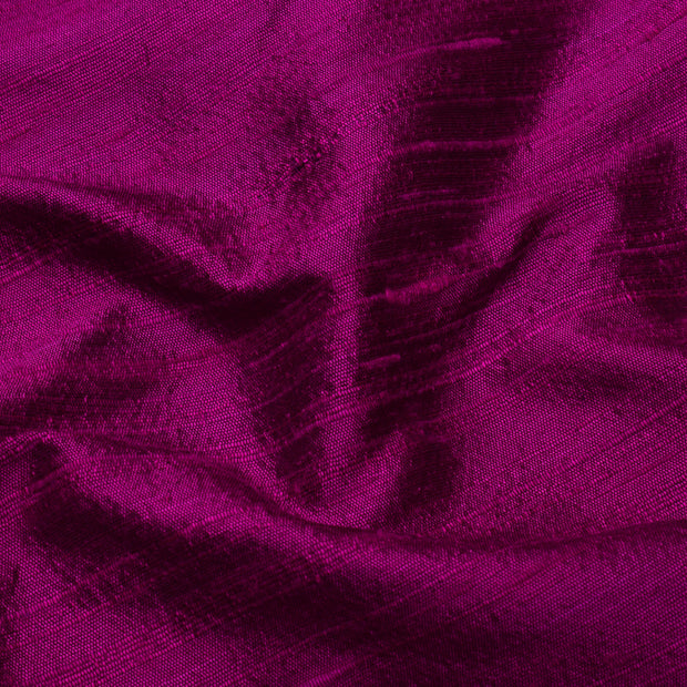 Magenta Pink Raw Silk Fabric