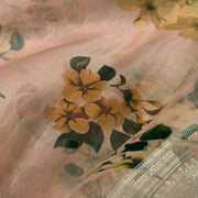 Peach Organza Silk Fabric
