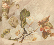 Half White Floral Printed Tussar Fabric