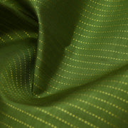 Olive Green Muthuseer Line Kanchi Silk Fabric