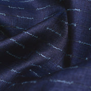 Blue Tussar Silk Fabric