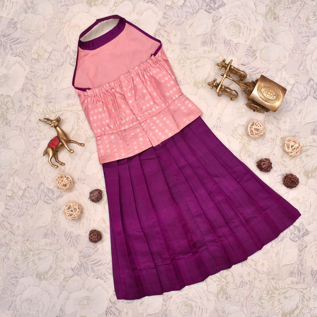 Pink With Purple Frock
