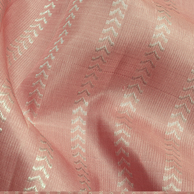 Guava Kathirlines Kanchi Silk Half And Half  Saree With Magenta Pallu And Blouse