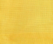 Self Checked Organza Yellow Saree With Floral Inskirt Cotton Saree And Blouse