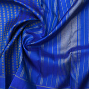 Royal Blue Kanchi Silk Saree With Blouse