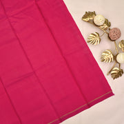 Onion Pink Pen Kalamkari Kanchi Silk Saree With Blouse