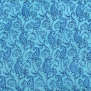 Sky Blue Paisely Floral Printed Khadi Silk With Floral Printed Blouse