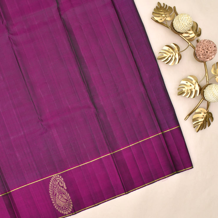 Black Kanchi Silk Saree With Blouse