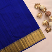 Turquoise Blue Kanchi Silk Saree With MS Blue Blouse