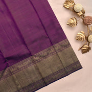 Onion Pink Kanchi Silk Saree With Wine Blouse