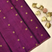 Half White Kanchi Silk Saree With Blouse