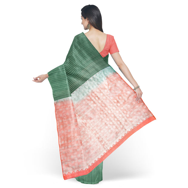 Sage Green Soft Silk  Saree