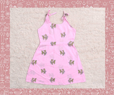 Bhagirathi - Rose With Apple Green Fish Printed Frock (2yrs)