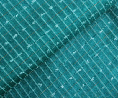 Tussar Silk Fabric with Stripes