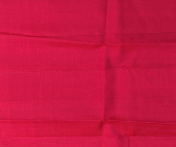 Red Kanchi Silk And Apple Green Tussar Half And Half Saree With Blouse