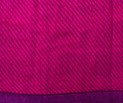 Magenta Tussar Saree with Abstract Print - With Blouse