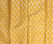 Corn Yellow Crepe with Multi Color Checks Half and Half Saree