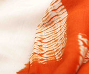 Off White Tussar Saree With Tangerine Blouse