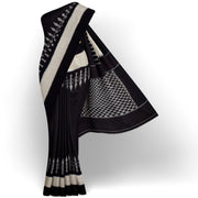Black Ikkat Cotton Saree