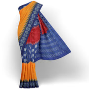 Tri Color Ikkat Cotton Saree