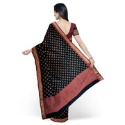 Black Tussar Saree