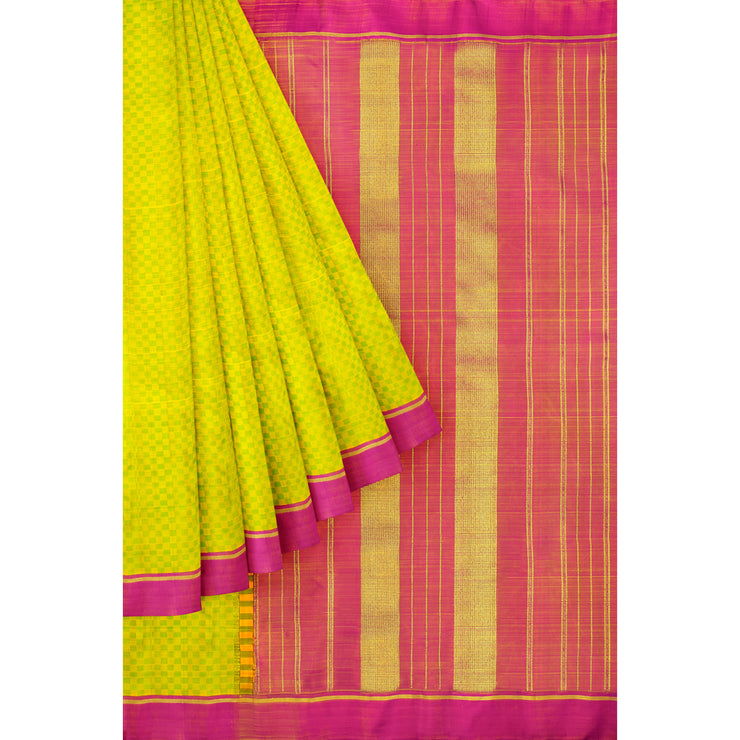 Avacado Green Kanchi Silk Saree