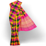 Multi Color Checked Kanchi SIlk Saree