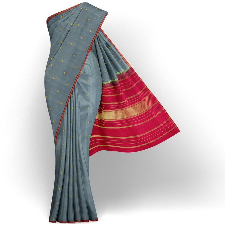 Grey Kanchi Silk Saree