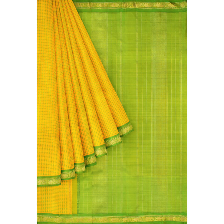Yellow Kanchi Silk Saree