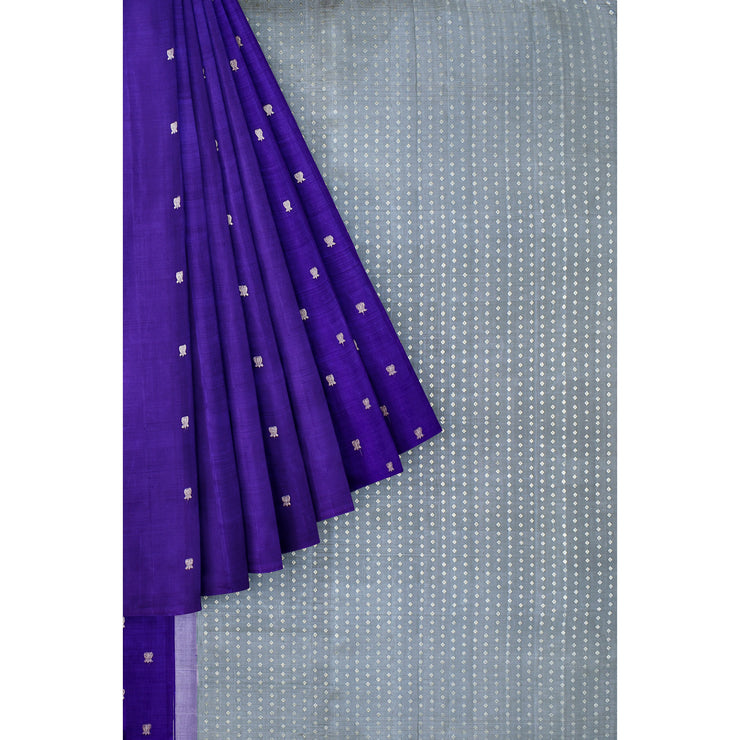 Ink Blue Kanchi Silk Saree