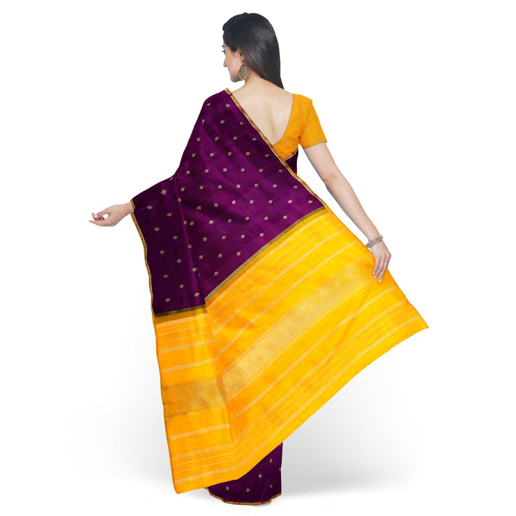 Wine Kanchi Silk Saree