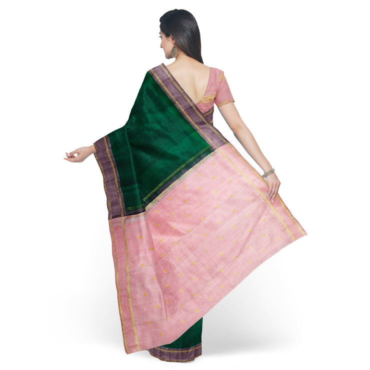 Bottle Green Kanchi Silk Saree