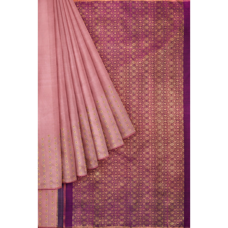 Onion Pink Kanchi Silk Saree