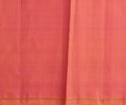 Forest Green Muthuseer Line Kanchi Silk Saree With Orange And Rose Dual Tone Pallu And Blouse