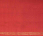 Black and Peach Kanjeevaram Saree with Shoulder Pattern