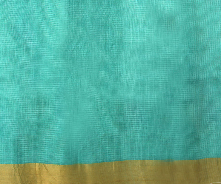 Rexona Blue Kota Silk Saree with Attached Blouse