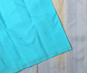 Baby Blue Muthuseer line Kanchipuram Silk Saree with Grey Pallu