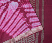 Pink And Maroon Chanderi Spun Saree