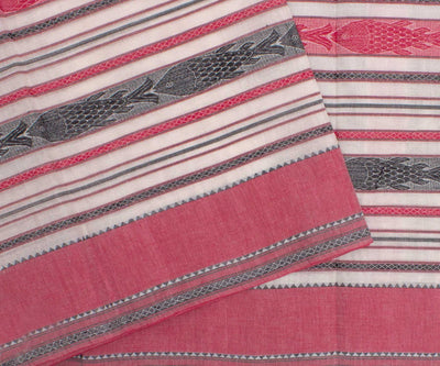 Red and Grey Woven Design Bengal Cotton Saree