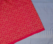 Pink And Grey Kanchi Silk Half And Half Saree