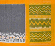Musturd and Grey Ikkat Cotton Saree