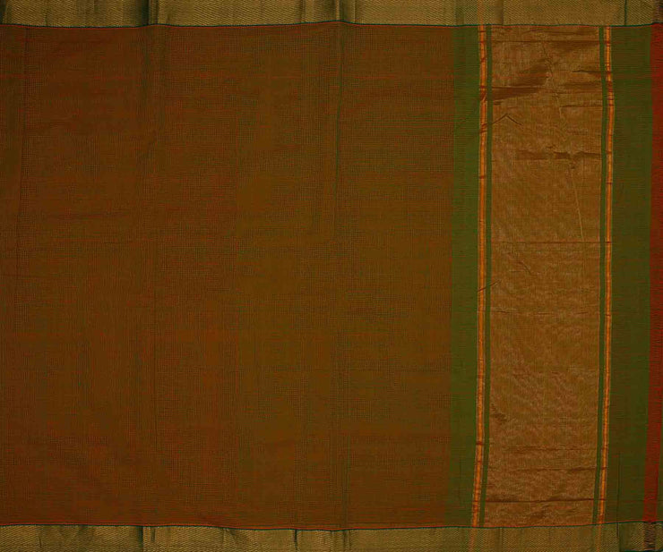 Mandhalir Green Mangal Giri Cotton Saree