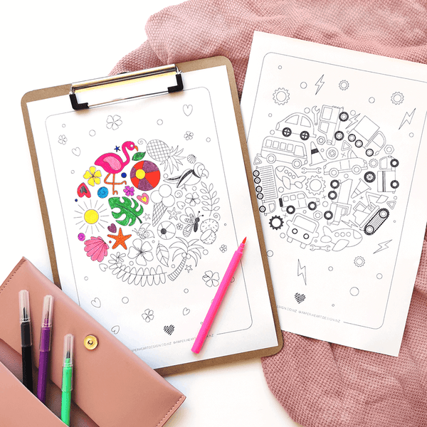 Downloadable free colouring pages