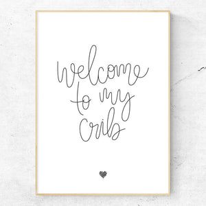Welcome to my Crib hand lettered art print