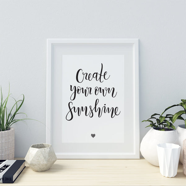 Create Your Own Sunshine lettering art
