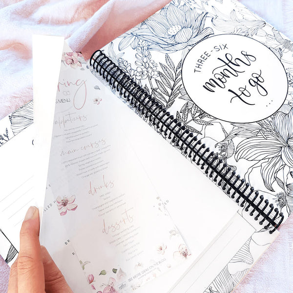 Wedding planner book with pockets