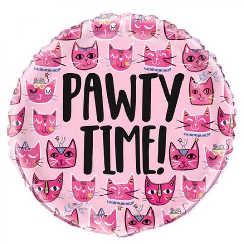 Pawty Time Foil Balloon