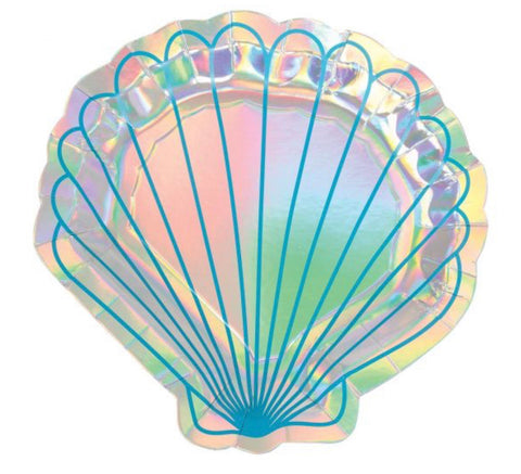 Shell Paper Plates Pack Of 8