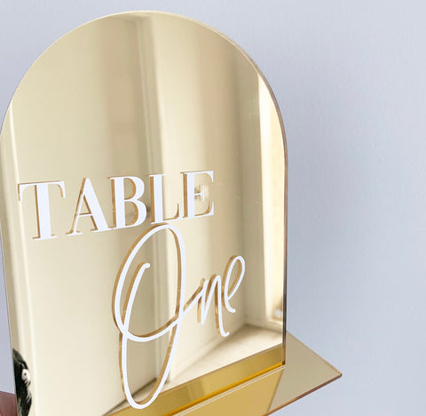 Acrylic Arch Table Numbers