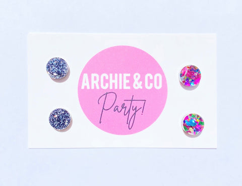 Sparkle & Shine Circle Earrings